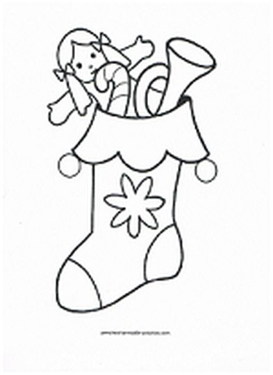 Christmas Stocking Coloring Pages 59