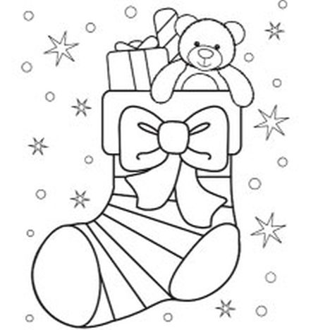Christmas Stocking Coloring Pages 60