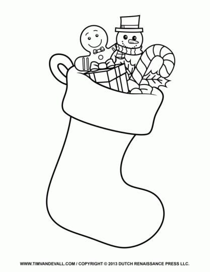 Christmas Stocking Coloring Pages 64