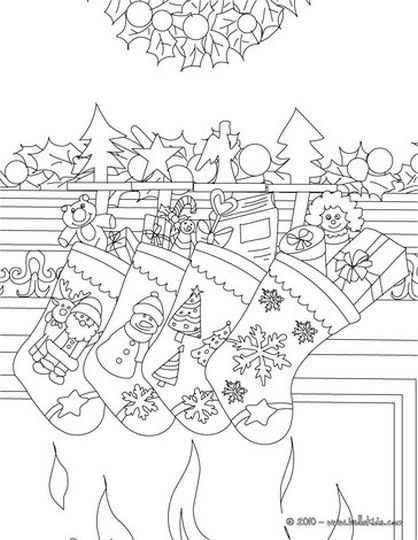 Christmas Stocking Coloring Pages 69