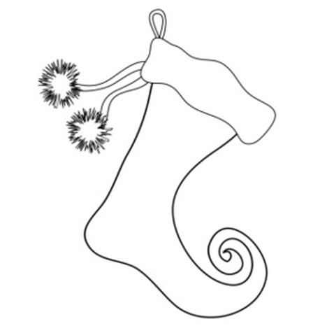 Christmas Stocking Coloring Pages 7