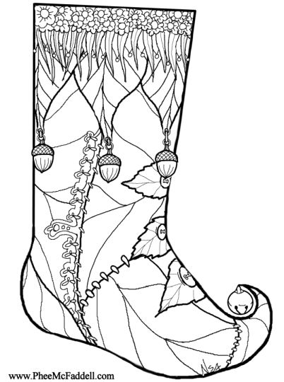 Christmas Stocking Coloring Pages 72