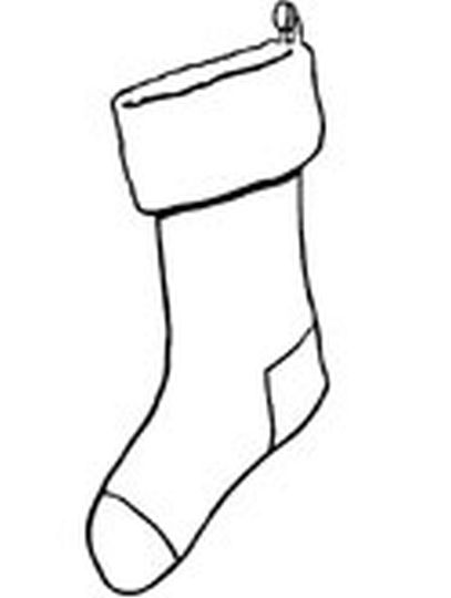 christmas stocking coloring pages 73 - Christmas Stockings Coloring Pages