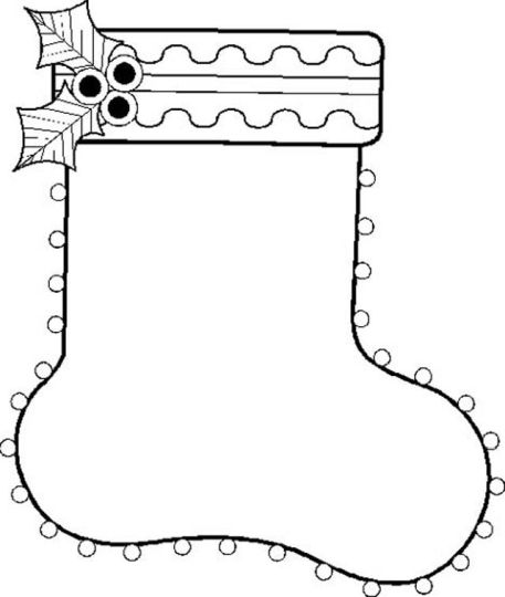 Christmas Stocking Coloring Pages 74