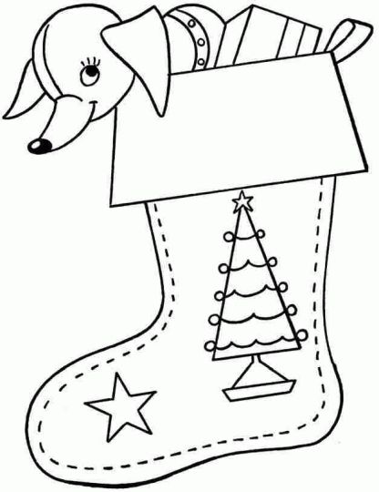Christmas Stocking Coloring Pages 75