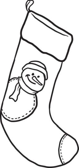 Christmas Stocking Coloring Pages 78