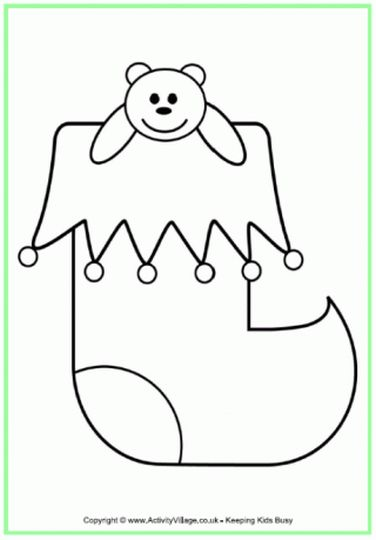 Christmas Stocking Coloring Pages 8