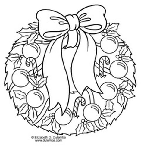 Christmas Wreath Coloring Pages 10
