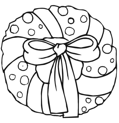 Christmas Wreath Coloring Pages 11