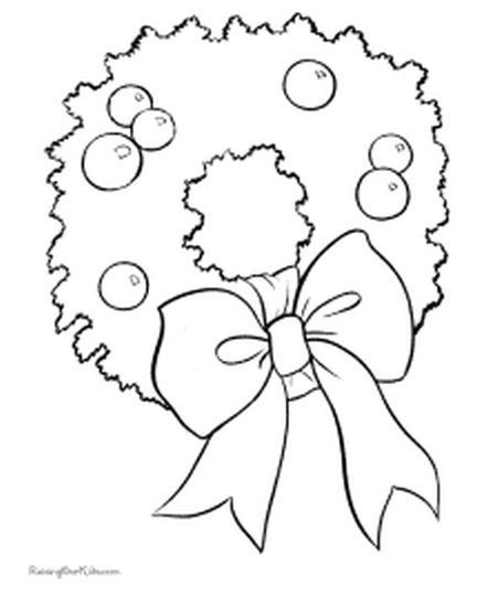 Christmas Wreath Coloring Pages 12