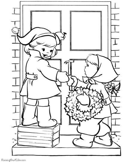 Christmas Wreath Coloring Pages 14