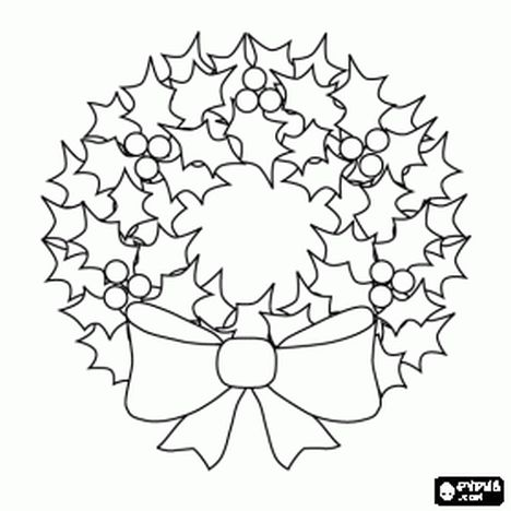 Christmas Wreath Coloring Pages 15