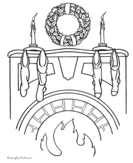 Christmas Wreath Coloring Pages 16