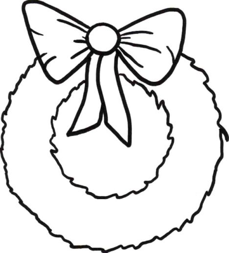 Christmas Wreath Coloring Pages 19
