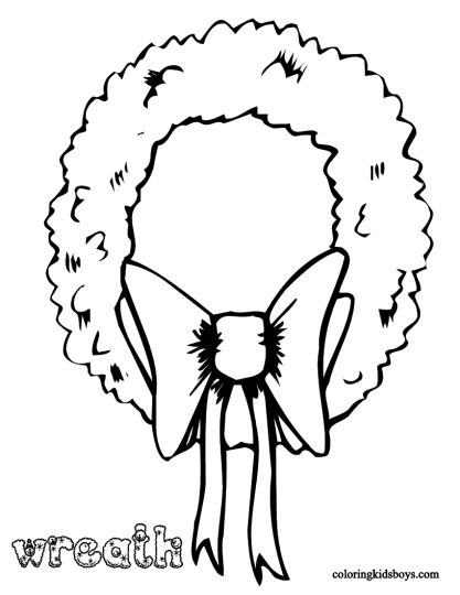 Christmas Wreath Coloring Pages 20
