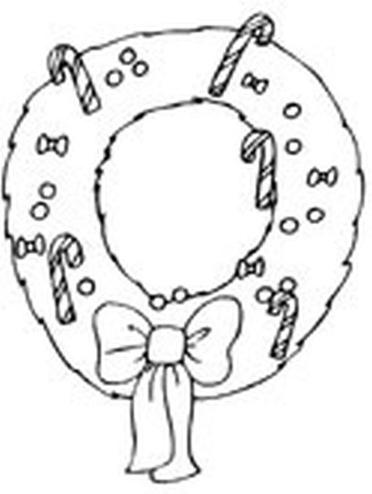 Christmas Wreath Coloring Pages 23