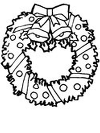 Christmas Wreath Coloring Pages 24