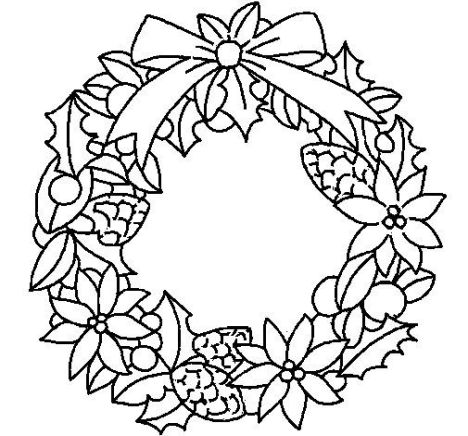 christmas wreath coloring pages 26