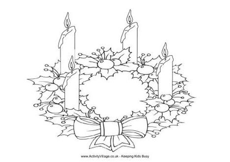 Christmas Wreath Coloring Pages 27