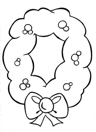 Christmas Wreath Coloring Pages 29