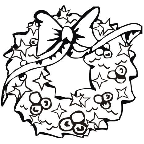 Christmas Wreath Coloring Pages 3