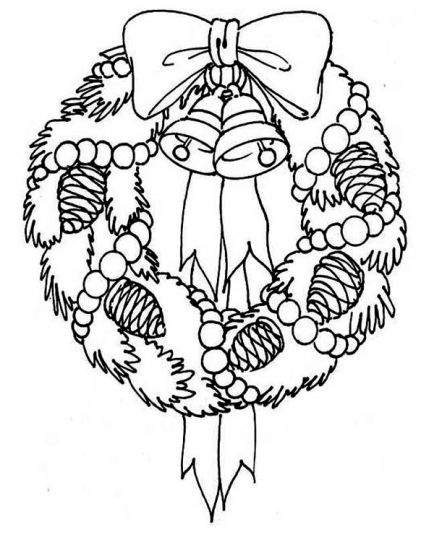 Christmas Wreath Coloring Pages 30