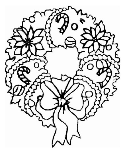 Christmas Wreath Coloring Pages 31