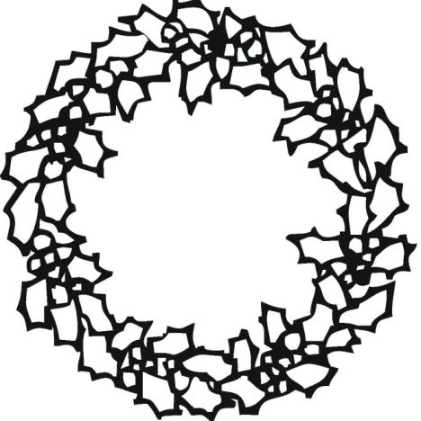 Christmas wreath coloring pages part 4 for Wreath coloring pages