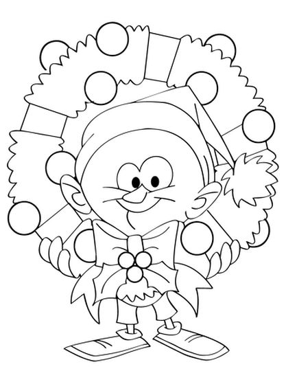 Christmas Wreath Coloring Pages 33