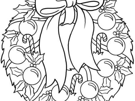 Christmas Wreath Coloring Pages 35