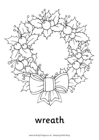 Christmas Wreath Coloring Pages 36