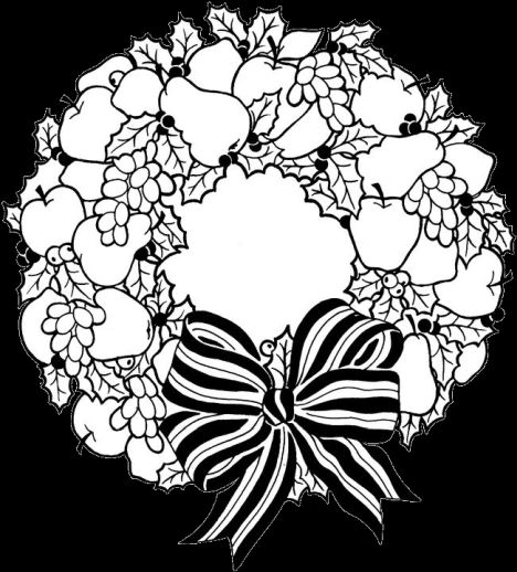 Christmas Wreath Coloring Pages 37