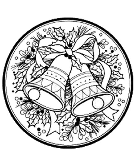 Christmas Wreath Coloring Pages 38