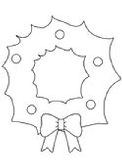 Christmas Wreath Coloring Pages 4