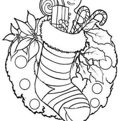 Christmas Wreath Coloring Pages 40