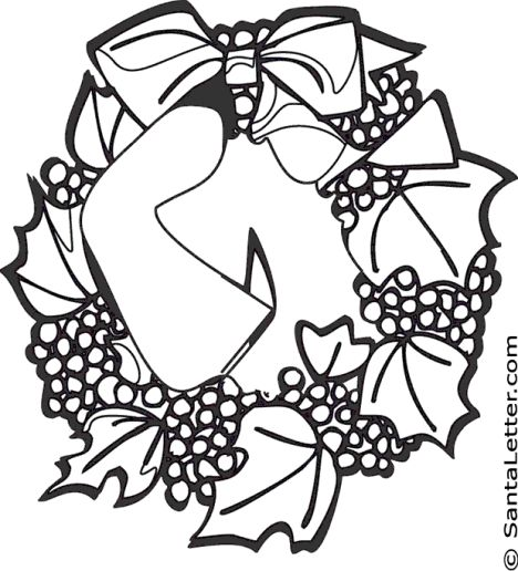 Christmas Wreath Coloring Pages 41