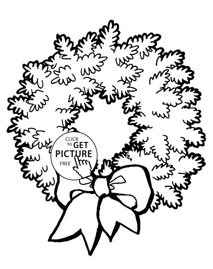 Christmas Wreath Coloring Pages 42