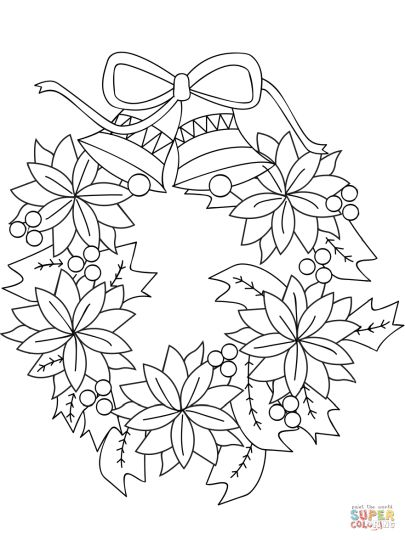 Christmas Wreath Coloring Pages 43