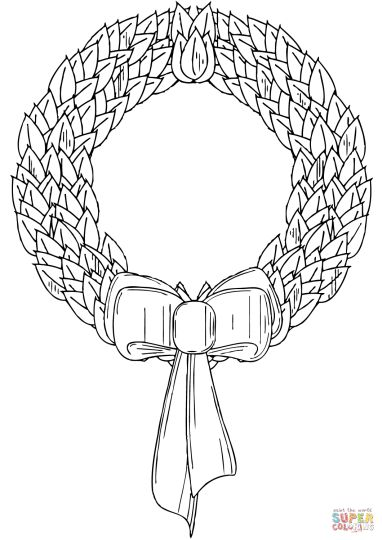 Christmas Wreath Coloring Pages 44