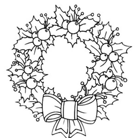 Christmas Wreath Coloring Pages - Part 5