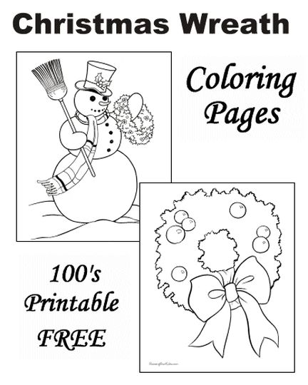 Christmas Wreath Coloring Pages 46