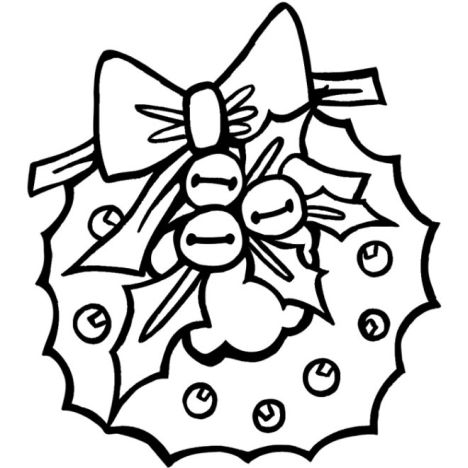Christmas Wreath Coloring Pages 47