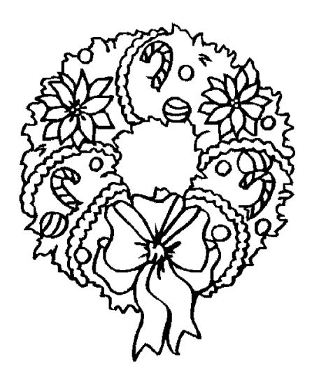 Christmas Wreath Coloring Pages 48