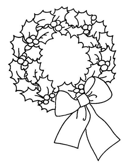 Christmas Wreath Coloring Pages 49