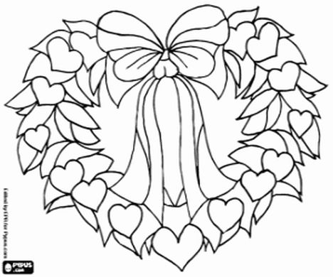 Christmas Wreath Coloring Pages 51