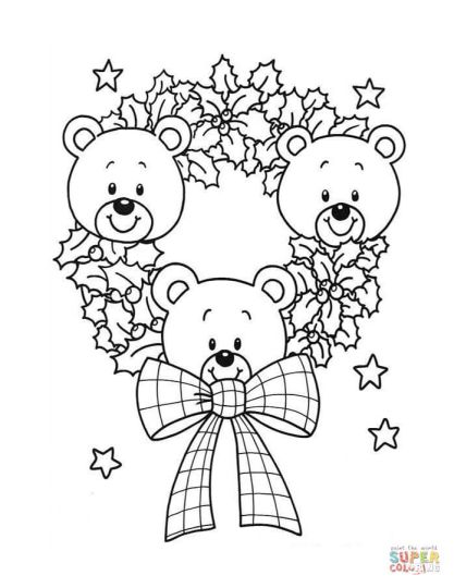 Christmas Wreath Coloring Pages 52