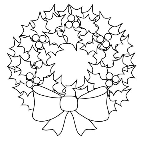 Christmas Wreath Coloring Pages 53
