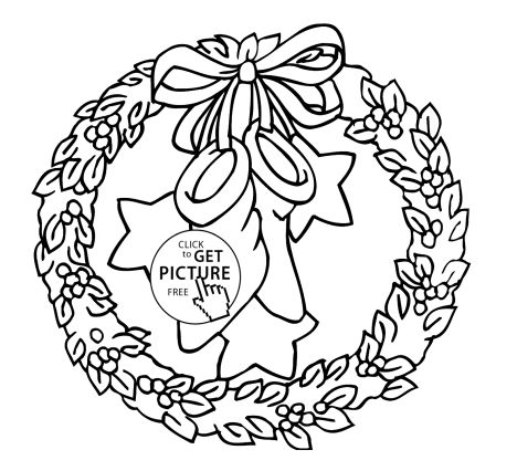 Christmas Wreath Coloring Pages 54