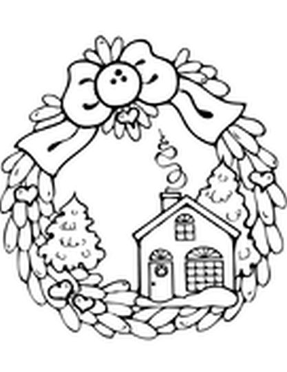 Christmas Wreath Coloring Pages 55