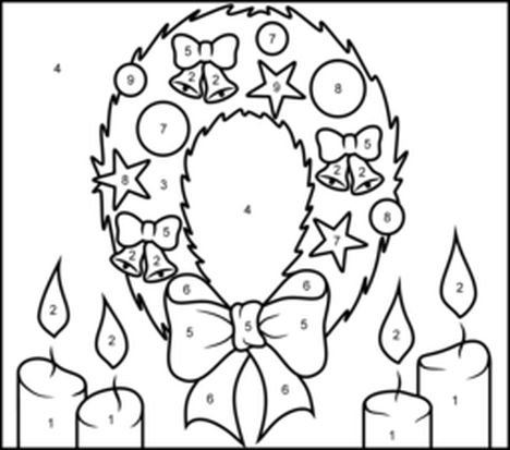 Christmas Wreath Coloring Pages 58
